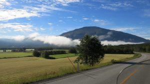 Morgon i Tynset på väg till Luster